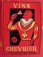 Maquette Gouache D'une étiquette De Vin. Vins Chevrier. Coulanges-les-Nevers. Dejoie Vers 1960 - Alcools