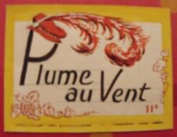 Maquette Gouache D'une étiquette De Vin. Plume Au Vent Vins Chevrier Coulanges-les-Nevers. Dejoie Vers 1960 - Alcools