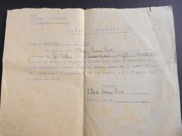 19917) GENOVA ISCRIZIONE CORSO INDOSSATRICI ENAL 1962 FOGLIETTO 22 X 17 Cm - Diplomi E Pagelle