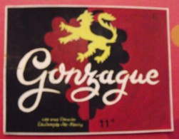 Maquette Gouache D'une étiquette De Vin. Gonzague. Vins Chevrier Coulanges-les-Nevers. Dejoie Vers 1960 - Alcohols