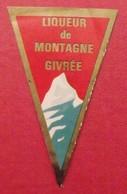 étiquette Liqueur De Montagne Givrée - Alcools
