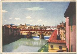 W2327 Firenze - Ponte Vecchio - Cartolina Pubblicitaria Ristorante Da Cesare - Viale Spartaco Lavagnini / Non Viaggiata - Firenze