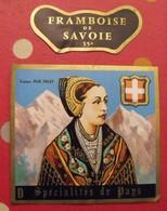 étiquette Liqueur Pur Fruit Spécialités Du Pays. Framboise De Savoie. Vers 1960 - Alcohols