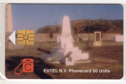 ANTILLES NEERLANDAISES SAINT EUSTACHE REF MV CARDS STAT-C1  ORANGE FORT 2000 Ex - Antilles (Neérlandaises)
