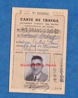 Carte Ancienne De Travail SNCF - De RIS ORANGIS à PARIS ORSAY - 1959 - Train Gare 2e Classe - Historische Dokumente