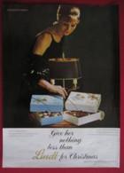 ORIGINAL  1963 MAGAZINE ADVERT FOR LINDT CHOCOLATES - Advertising