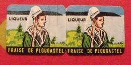 étiquette Liqueur  Fraise De Plougastel . Vers 1960 - Alcools