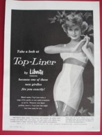 ORIGINAL 1960 MAGAZINE ADVERT FOR  LIBERTY@S  CORSETS - Other