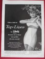 ORIGINAL 1960 MAGAZINE ADVERT FOR  LIBERTY@S  CORSETS - Advertising
