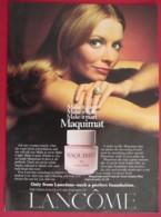 ORIGINAL 1974 MAGAZINE ADVERT FOR  LANCOME MAQUIMAT CREAM - Other
