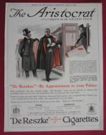 ORIGINAL 1921  MAGAZINE ADVERT FOR  DE RESZKE CIGARETTES - Advertising