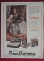 ORIGINAL 1923  MAGAZINE ADVERT FOR  MOUSTAFA PRINCE CHARMING CIGARETTES - Other
