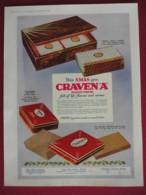 ORIGINAL 1931  MAGAZINE ADVERT FOR CRAVEN A  CIGARETTE BOXES - Advertising