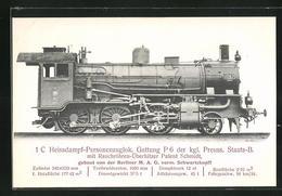 AK 1 C Heissdampf-Personenzuglok. Gattung P 6 Der Kgl. Preuss. Staats-B., Gebaut Von Der Berliner M. A. G. - Treinen