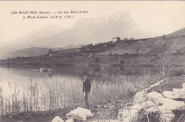 CPA 73 @ LES MARCHES - Le Lac Saint André Et Mont Granier à 1938 M - France