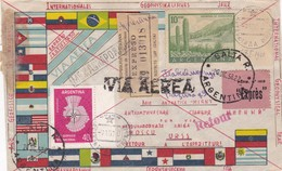 ENVELOPPE CIRCULEE SALTA (ARGENTINE) A BASE ANTARTICA RUSA MIRNY 1958 VIA AEREA RETOUR RARE - BLEUP - International Geophysical Year