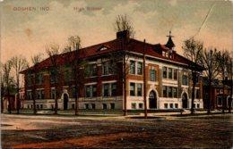 High School Goshen Indiana 1908 - Schools
