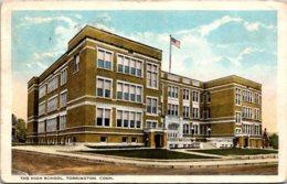 High School Torrington Connecticut 1923 Curteich - Schools