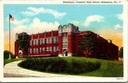 Ebensburg-Cambria High School Ebensburg Pennsylvania Curteich - Schools