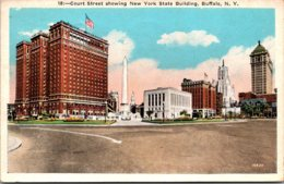 New York Buffalo Court Street Showing New York State Building 1932 - Buffalo