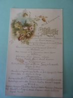 MENU -1906   Dessin Chromo  Campagne Et Floral   .AVRIL 2019  Alb 11 - Menus