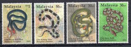 Malaysia - Snakes.Reptiles - Set Of 4 Stamps  - MNH** Alb.2 - 4 - Snakes