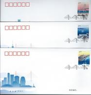China. Scott #  FDC 3 Covers. Opening Of Zhuhai Bridge. Joint Issue With H.K & Macau 2018 - Joint Issues