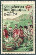 Germany East Prussia Ostpreußen KÖNIGSBERG Thee-Compagnie Tea Company Thé Té Tee Poster Vignette Reklamemarke Cinderella - Getränke