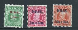 Niue 1911 Overprints On  New Zealand KEVII Mint , Some Gum Tone - Niue