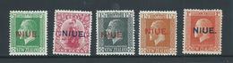 Niue 1917-1920 Overprints On  New Zealand KGV  Part Set Of 5 Values Fine Mint HR - Niue