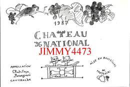 CPM - PARIS 13è - FÊTE DES VENDANGES - CHÂTEAU NATIONAL Etiquette De La Cuvée 1987 - Edit. Passages - Bourses & Salons De Collections