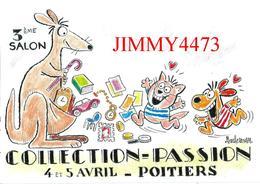 CPM - POITIERS 86 Vienne - 3è SALON COLLECTION PASSION Avril 1987 - Dessin BARBEROUSSE - Bourses & Salons De Collections