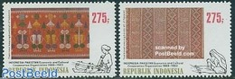 Indonesia 1983 Pakistan Co-operation 2v, Joint Issue Pakistan, (Mint NH), Various - Textiles - Joint Issues - Joint Issues