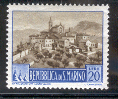 SAN MARINO 1950 20 L View Scott Cat. No(s). 288 MH - San Marino