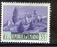 SAN MARINO 1949 35 L View Of Government Palace Scott Cat. No(s). 289 MH - San Marino