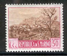 SAN MARINO 1949 50 L View Scott Cat. No(s). 290 MH - Unused Stamps