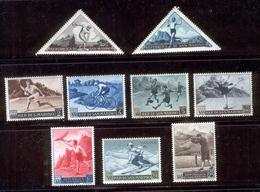 SAN MARINO 1953 Various Sports Scott Cat. No(s).327-334, C90 MH - Unused Stamps