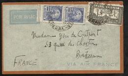 Lettre Avion Air France Praca Maua (Rio) 02/03/1935 N° 264 Et 180 (paire) à Bordeaux Le 10/03/1935 Via Toulouse B/ TB - Covers & Documents