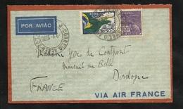Lettre Avion Air France Praca Maua (Rio) 09/05/1936 N° 207 Et PA N°31 Pour Mareuil Sur Belle Le 15/05/1936  B/ TB - Brésil