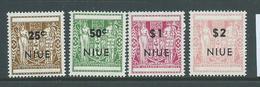 Niue 1967 Overprints On NZ Arms 25c - $2 Perf 14 Set Of 4 MLH - Niue