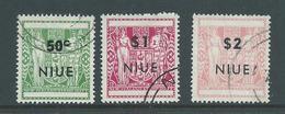 Niue 1967 Overprints On NZ Arms 50c - $2 Perf 14 Part Set Of 3 FU - Niue