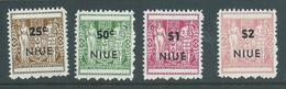 Niue 1967 Overprints On NZ Arms Perf 11 Set 4 MNH - Niue