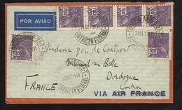 Lettre Avion Entête Air France Par Air Condor Rio DF  Le 24/09/1936 N° 207 X 6  à Mareuil Sur Belle Le 29/0/1936  B/ TB - Covers & Documents