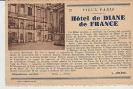 CPA - VIEUX PARIS - HOTEL DIANE DE FRANCE - 27 - L. ARLENE - COMBIER - Cafés, Hoteles, Restaurantes