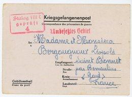 CLFM 1941 CL SPECIFIQUE AU  CAMP STALAG VIIIC = SAGAN (BRESLAU) LETTRE PRISONNIER GUERRE => ST BONNET GARD FRANCE - Marcophilie (Lettres)