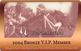 Churchill Downs - Multiple US Racetracks - 2004 Bronze VIP Twin Spires Club Card - Casino Cards