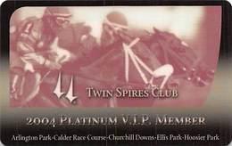 Churchill Downs - Multiple US Racetracks - 2004 Platinum VIP Twin Spires Club Card - Casino Cards