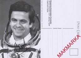 MAKMARKA SPACE RUSSIA 2018.12.10 XVII CONFERENCE AUTOGRAPH VLADIMIR SOLOVYOV (2 FLIGHTS) POST CARD (10Х15) - Autógrafos