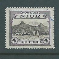 Niue 1925 4d Harbour Used , Dubious Cancel - Niue