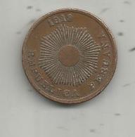 MONNAIE , PEROU , Republica PERUANA , 1919 ,  Dos Centavos ,  2 Scans - Pérou